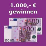 1000 euro gewinnen