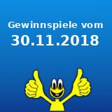 Gewinnspiele vom 30.11.2018
