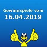 Gewinnspiele vom 16.04.2019
