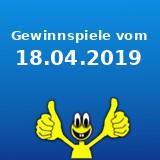 Gewinnspiele vom 18.04.2019