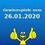 Gewinnspiele vom 26.01.2020
