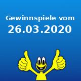 Gewinnspiele vom 26.03.2020