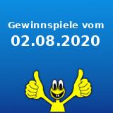 Gewinnspiele vom 02.08.2020