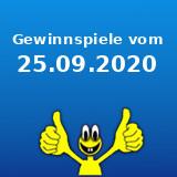 Gewinnspiele vom 25.09.2020