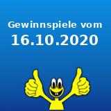 Gewinnspiele vom 16.10.2020
