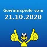 Gewinnspiele vom 21.10.2020