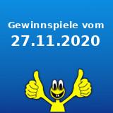 Gewinnspiele vom 27.11.2020