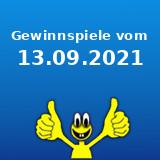 Gewinnspiele vom 13.09.2021