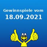 Gewinnspiele vom 18.09.2021