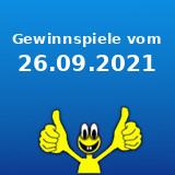 Gewinnspiele vom 26.09.2021